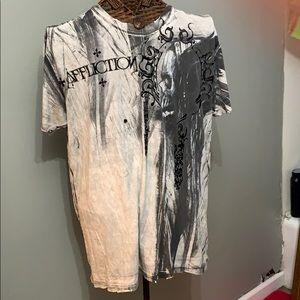 Affliction T-shirt cotton size extra large men's